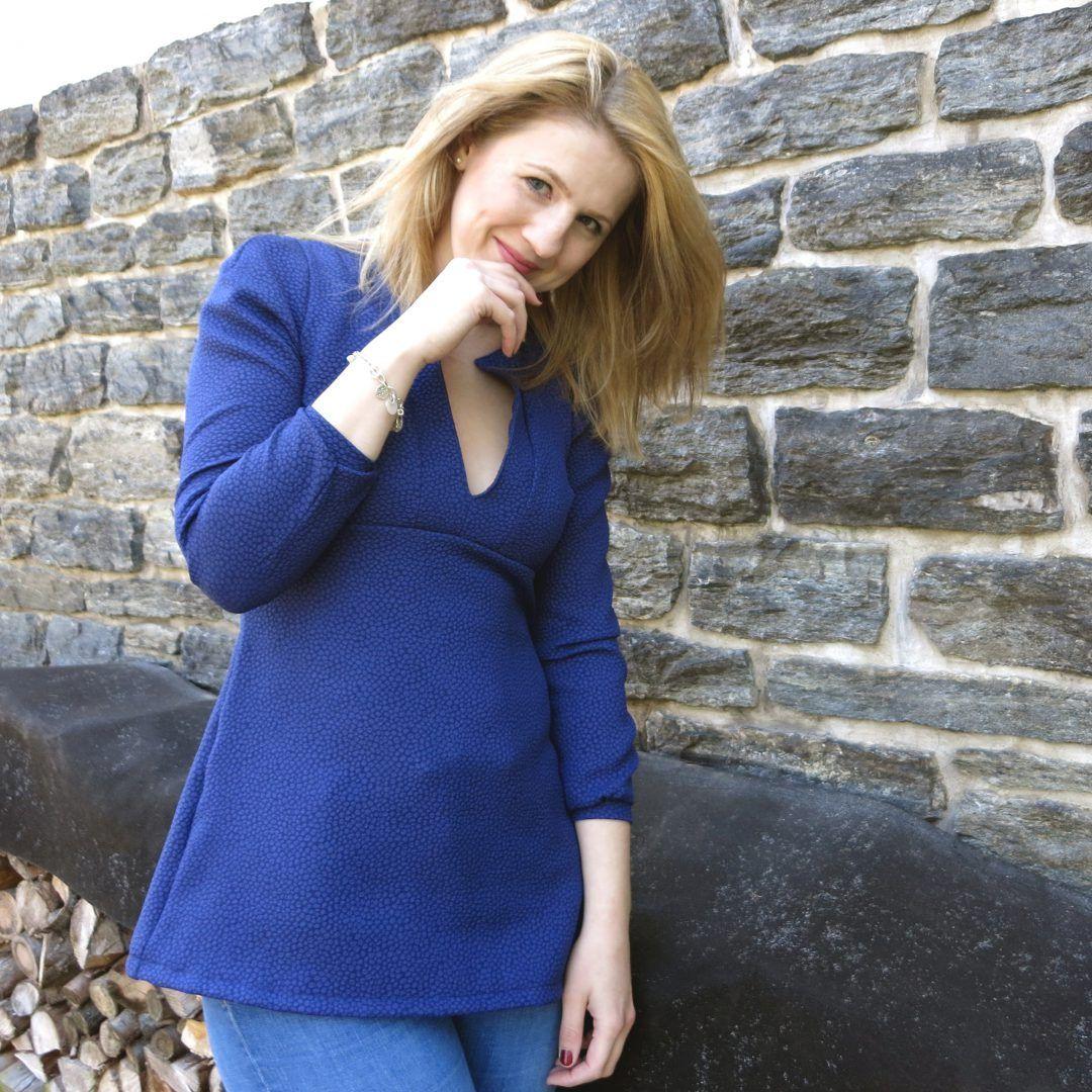 """""""Meine erste Katha von Schnittchen"""" by Those Lovely Things - Diese blaue Tunika gibt's ab sofort als Post auf meinem Blog www.thoselovelythings.de"""
