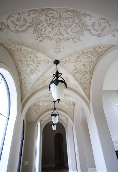 Stenciled Groin Ceiling Ceiling Design Ceiling Detail Painted