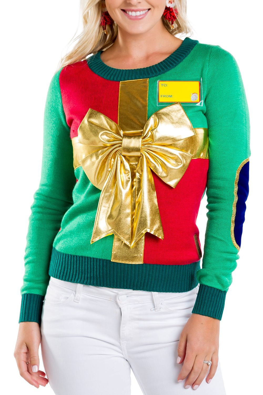 47a0fa051 Women s Christmas Present Ugly Christmas Sweater
