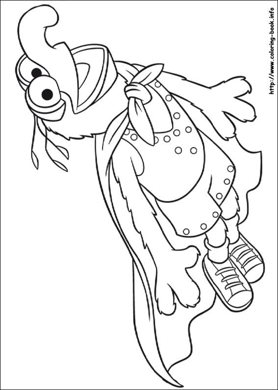 Gonzo coloring picture  coloring pages  Pinterest  Patterns and