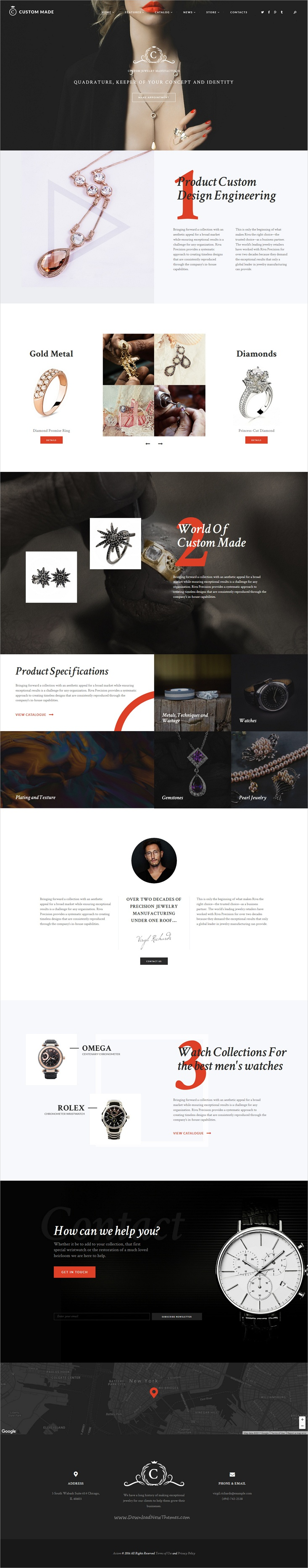 homepage jewelry shopping jewellery flash template templates online websites big