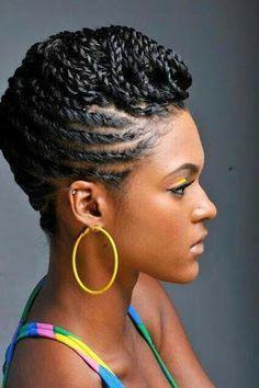 Hair CHALLENGES Idées coiffures cheveux crépus Cornrows, nattes collées  comme coiffure protectrice