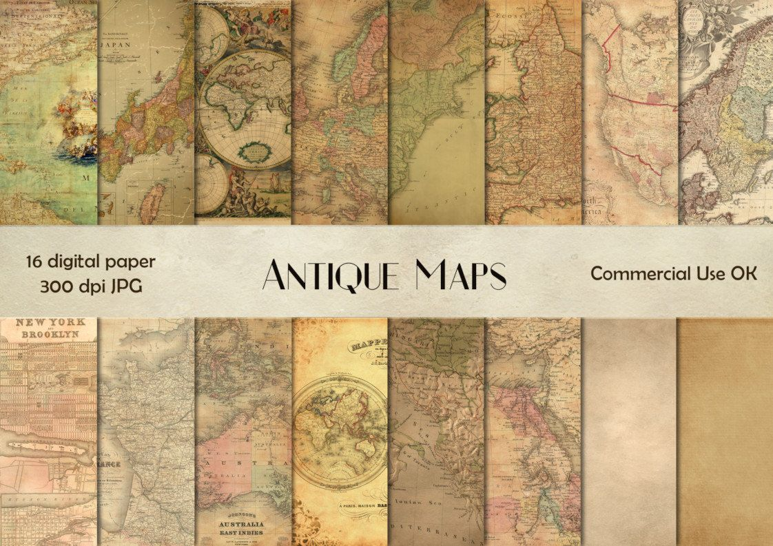 Antique maps digital paper vintage maps antique maps scrapbook antique maps digital download vintage maps antique maps scrap old maps scrapbooking gumiabroncs