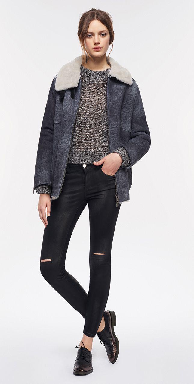 MAX&Co. AW 2015 - Shearling JAcket DIACONO / Sweater DRACENA / Jeans DENOTATO / Shoes ALICE