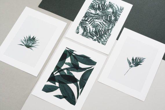 Pack de 4 Affiches format A4 de la série Botanica Papier haute qualité Fedrigoni 300 gr. Série limitée à 30 exemplaires  Les affiches sont envoyées