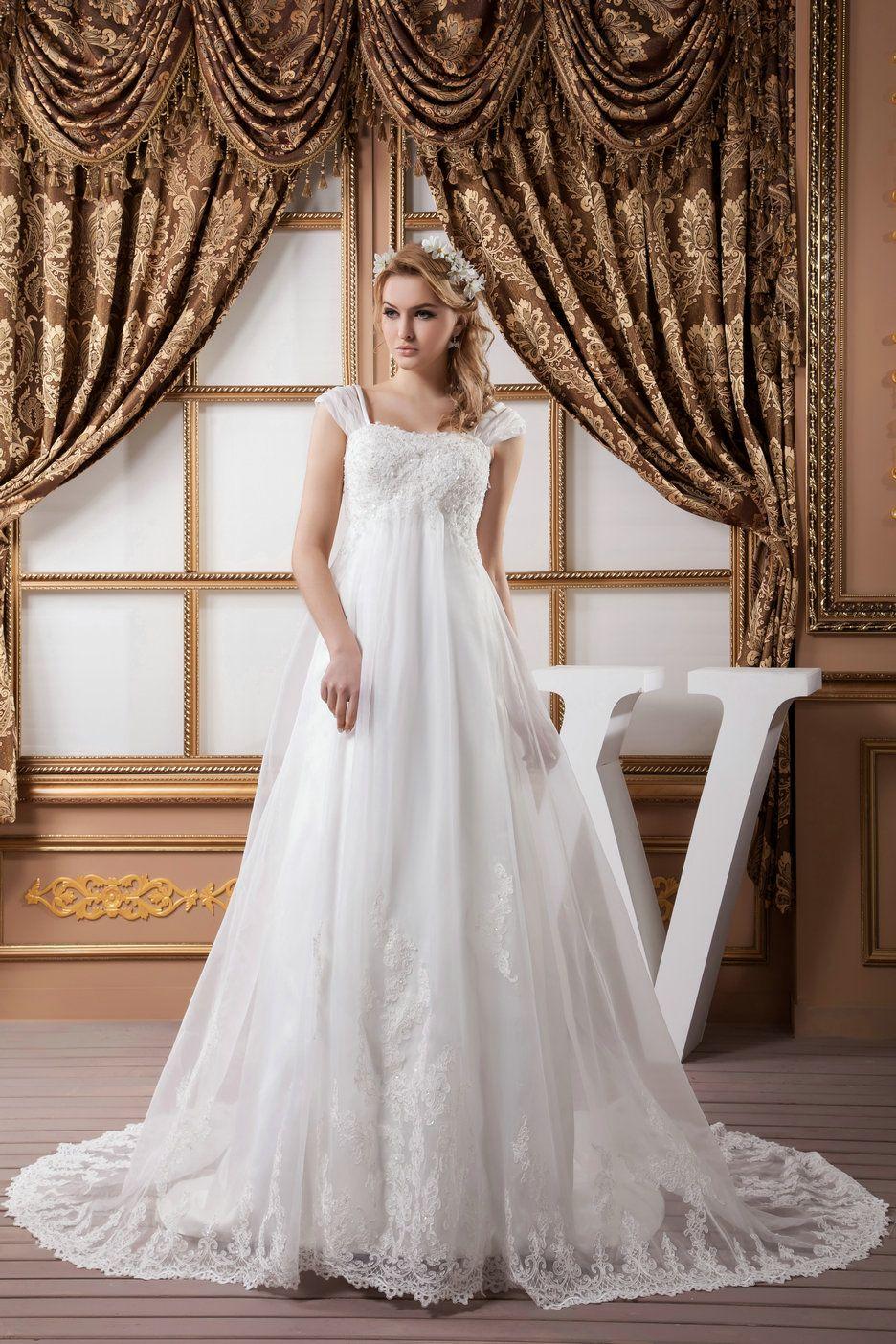 Empire waist dress wedding dress plus size google search for Plus size empire wedding dress