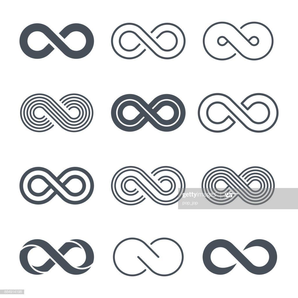 Infinity Symbols Icon Set Vector Illustration Abstract Graphic Design Icon Set Vector Infinity Graphic