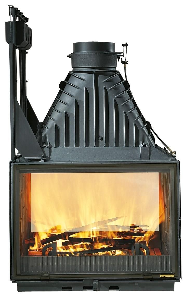 Cheminees Philippe 1001 Etanche The Radiante 846 2v Double Sided Fire Gives Warmth And Soul To Any