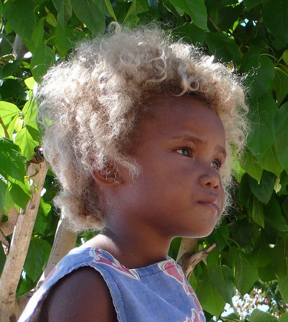 Blond On Black Black To Blonde Hair Solomon Islands People