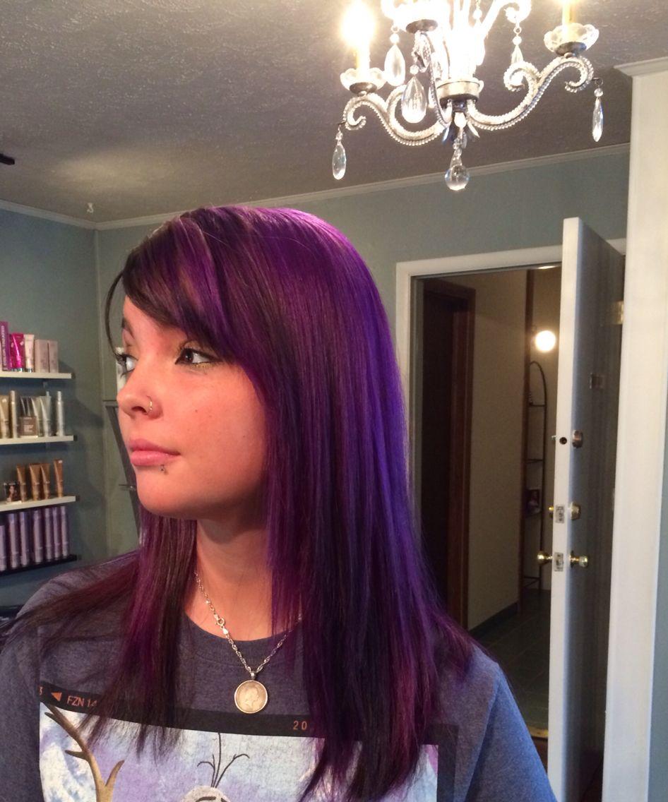 BlackandViolet #Fallcollor #VibrantViolet #HairdesignbyGeorgio!