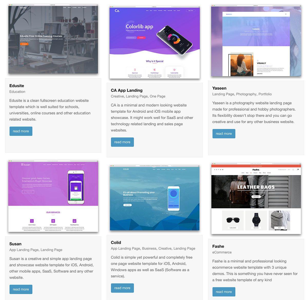 114 Free HTML Website Templates 2020 Business website