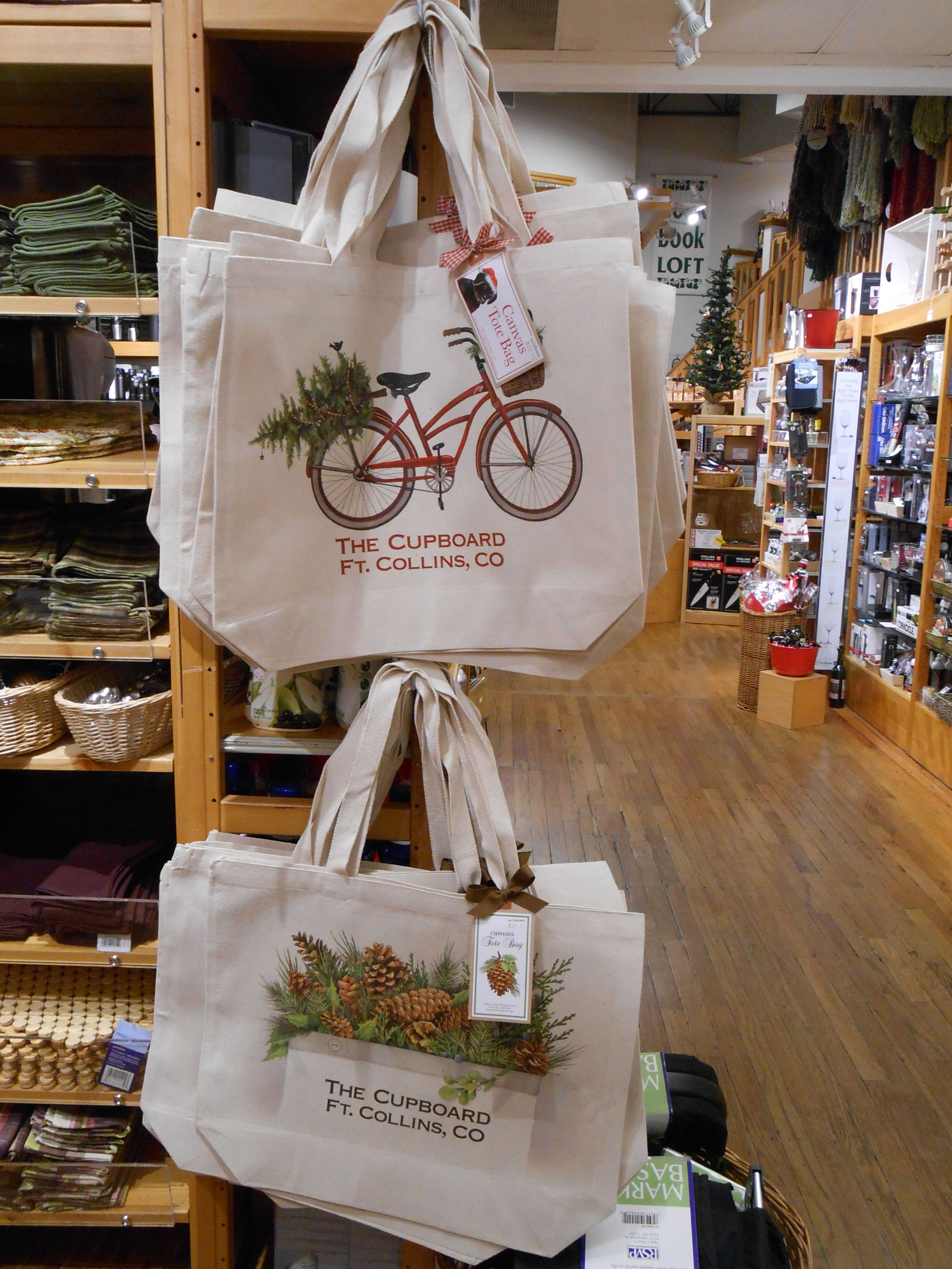 Winter Reusable Bags The Cupboard Fort Collins Shopping Bags Independent Kitchen At Home Store Cupboard