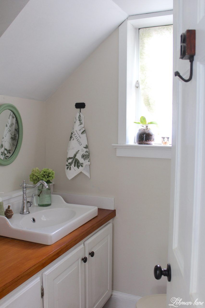 Powder Room Refresh With Pops Of Green Funky Decor Funky Home