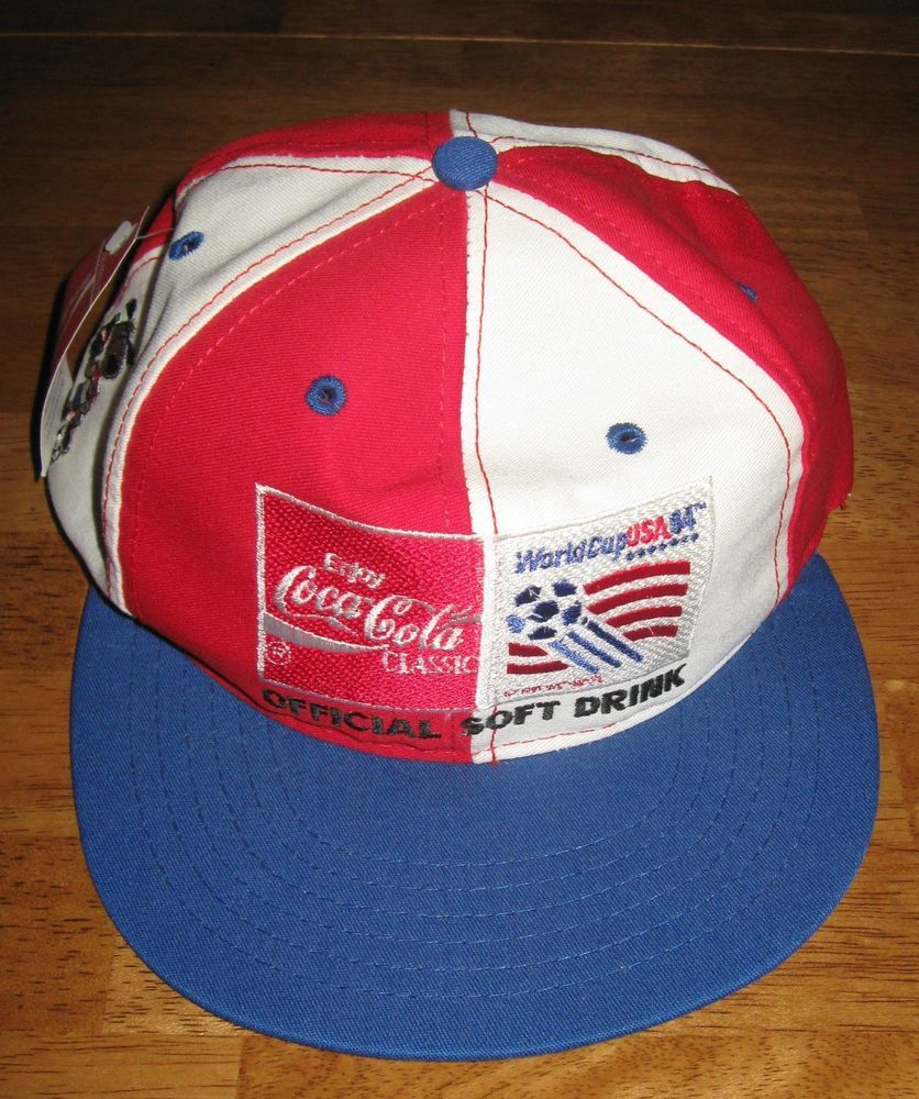bb8f58c3f30 Coca Cola World Cup USA 94 soccer hat baseball cap snapback vintage tags
