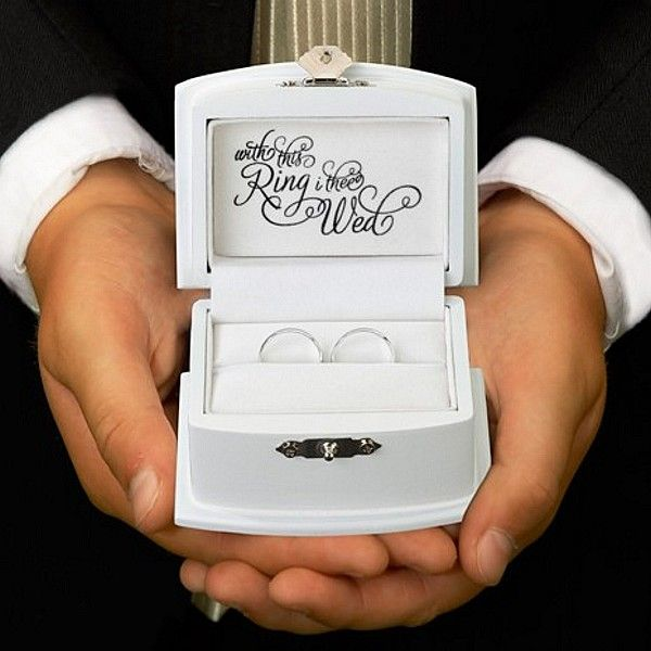 with this ring wedding ring bearer box - Wedding Ring Boxes