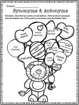 3db23608e6a0 FREE  Synonyms and Antonyms Coloring Activity