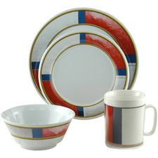 Decorated Life Preserver 16 Piece Dinnerware Gift Set | Dinnerware ...