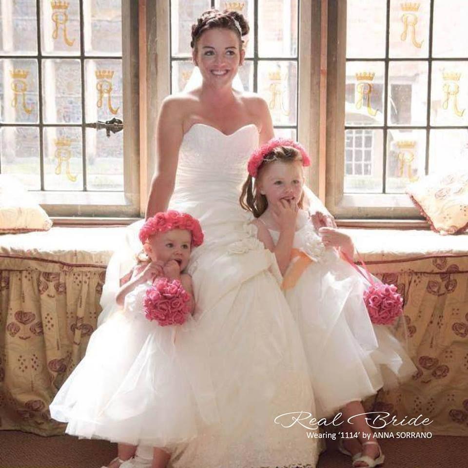Beautiful bride 💗 & stunning children. This dress is an Anna ...