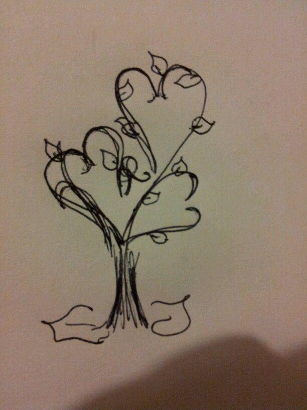 Self designed tree tattoo.