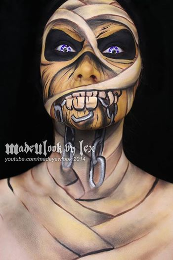 Madewlook by lex Eddie from Iron Maiden Halloween makeup Makeup - face painting halloween makeup ideas