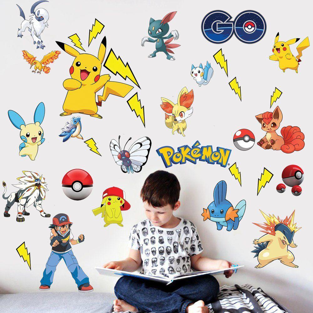 Pikachu Wandtattoo Fur Kinder Eine Coole Deko Fur Die Kinderzimmer Wand Wandtattoo Kinder Wandtattoo Pokemon