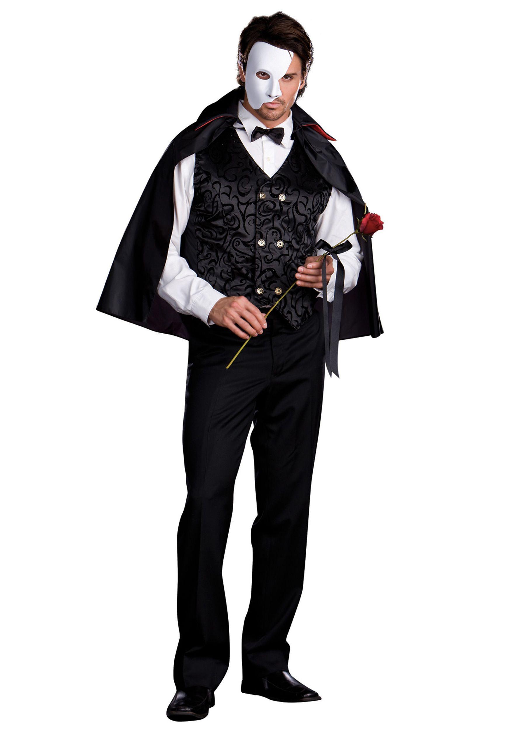 image detail for adult phantom gentleman costume masquerade costumes for men halloween - Masquerade Costumes Halloween
