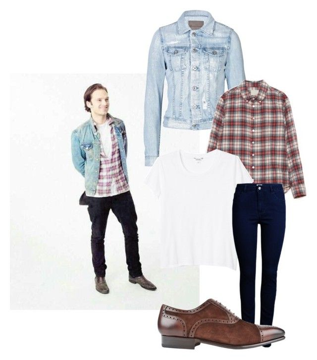 """""""Get The Look - Sebastian Stan"""" by carolinelaufeyson ❤ liked on Polyvore featuring Sebastian Professional, AG Adriano Goldschmied, Band of Outsiders, Monki, ONLY and Magnanni"""