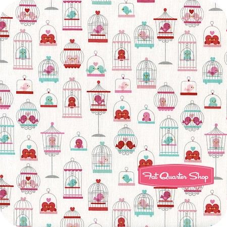Lovey Dovey White Main Yardage SKU# C3650-WHITE  this line is adorable