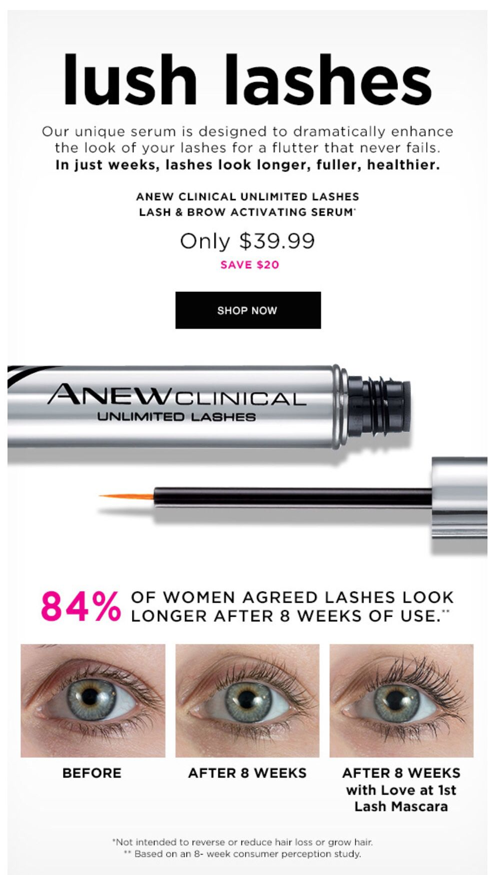 72925b25ef3 Anew Clinical Unlimited Lashes Lash & Brow Activating Serum in 2019 ...