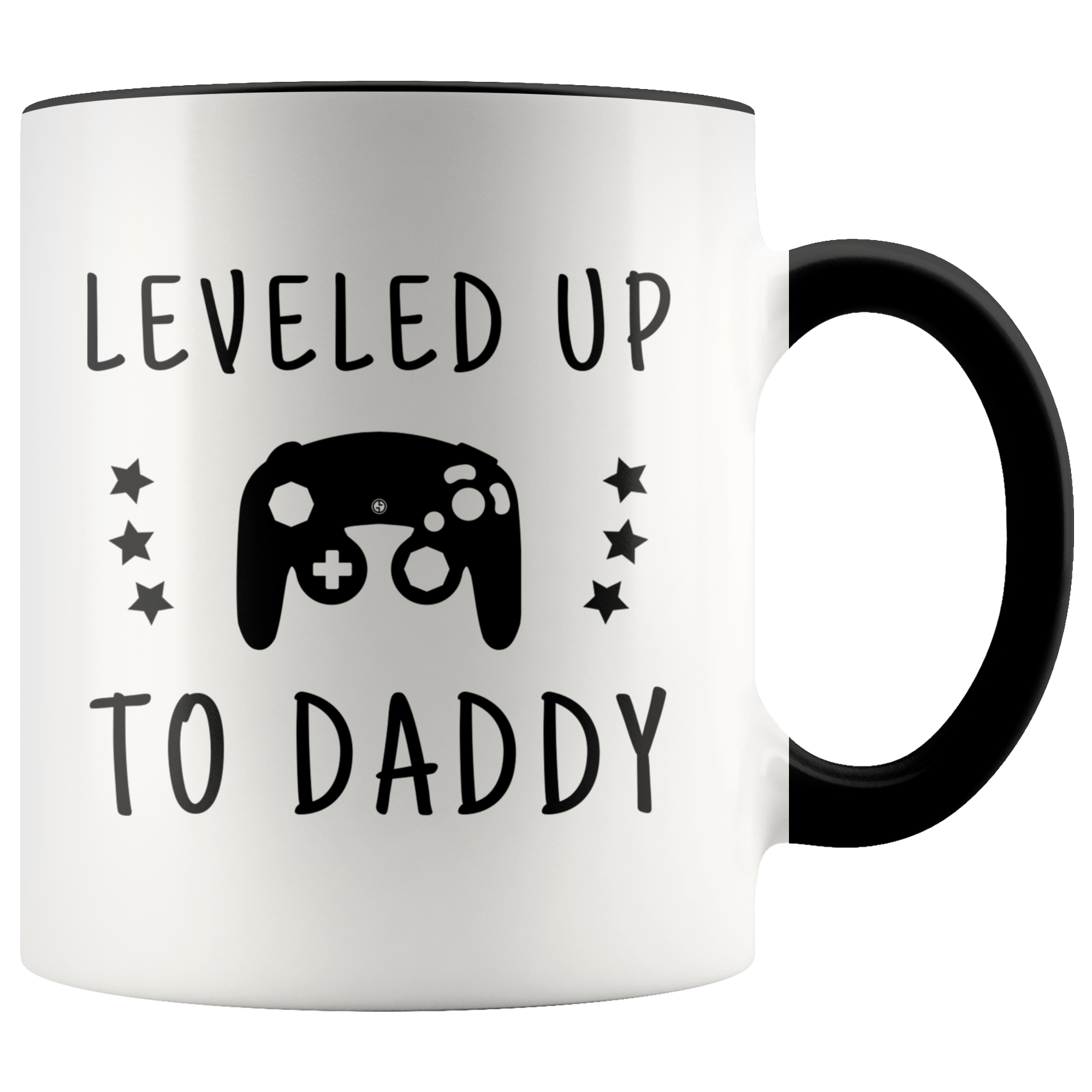 Dad To Be Gift Leveled Up To Daddy Coffee Mug Gifts