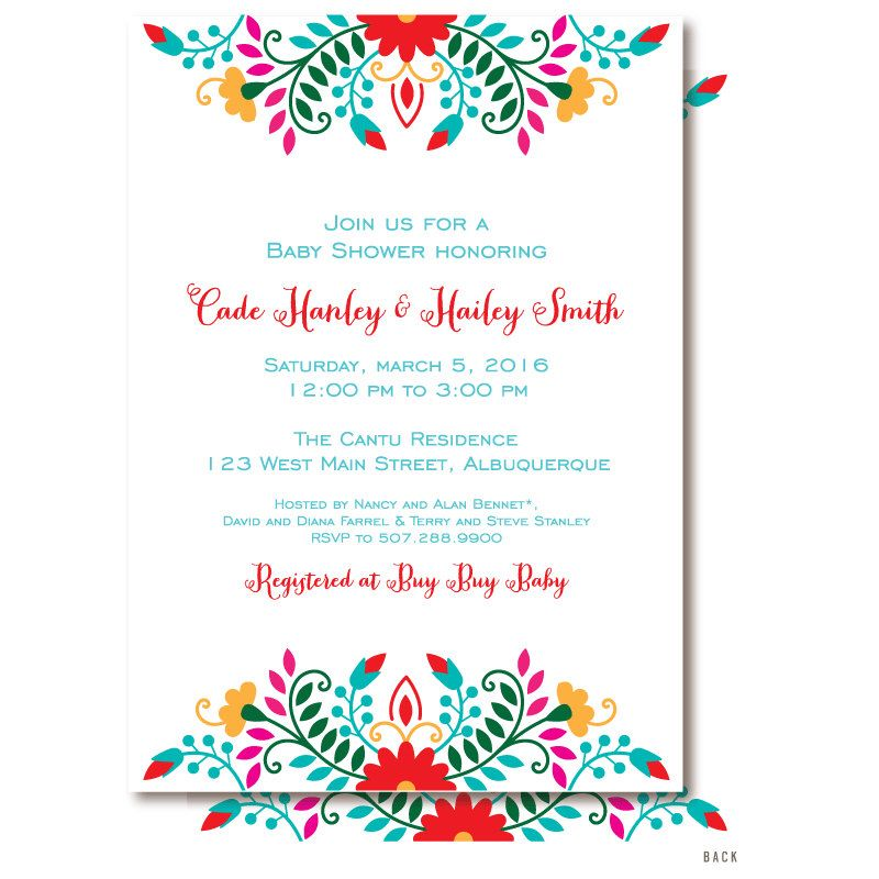 Fiesta Baby Shower Invitation, Mexican Themed Baby Shower ...