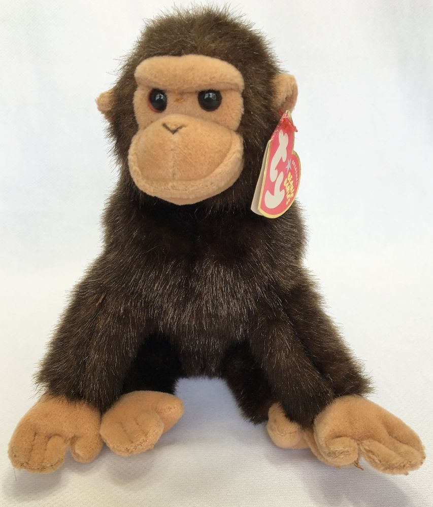 82e05646be1 Details about NEW Ty Beanie Baby WEAVER the Monkey MWMT Plush Animal ...