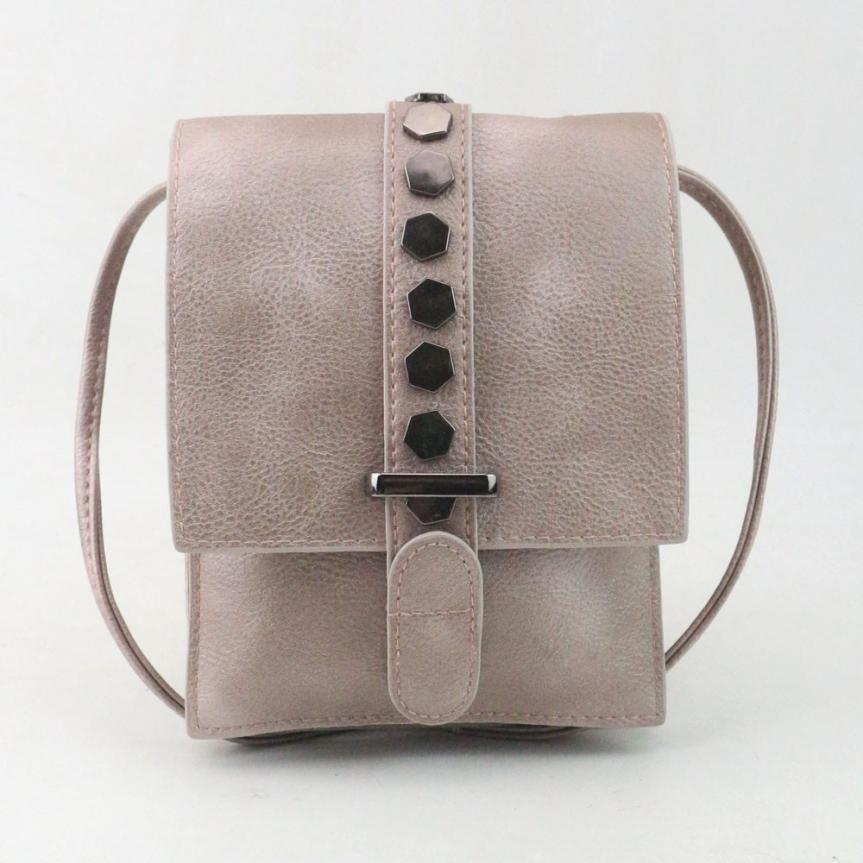 4a5062c806b9 Crossbody Handbag With Rivet Detail