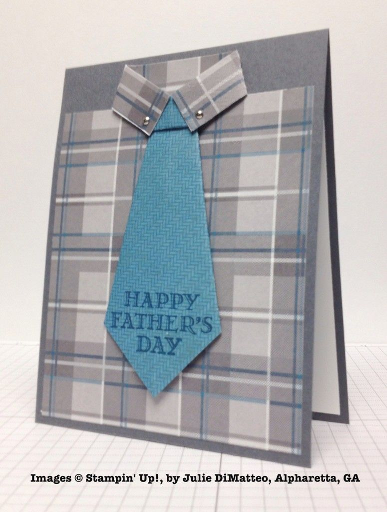 Shirt design card - Stampin Up Hand Crafted Father S Day Card Fromjulie Dimatteo