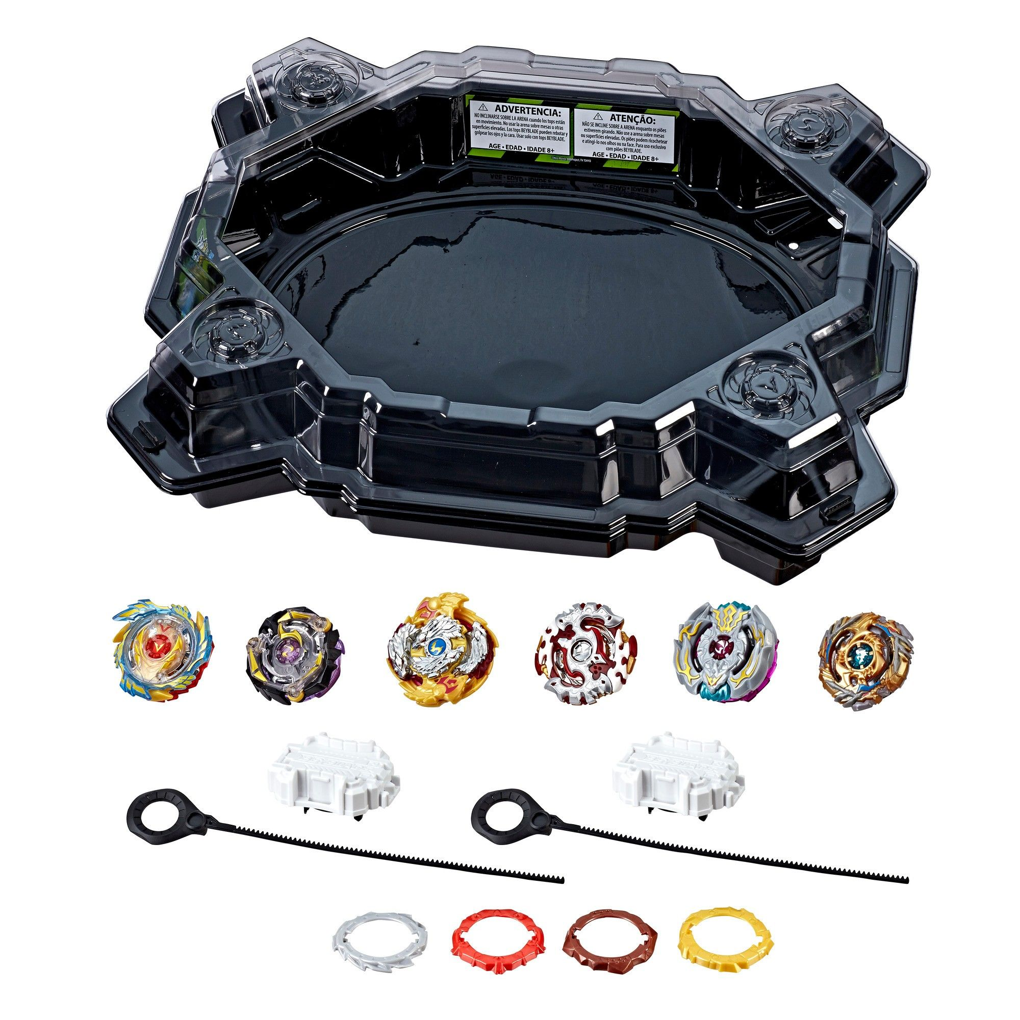 Beyblade Burst Evolution Ultimate Tournament Collection Tops And Beystadium Multi Colored Beyblade Burst Toys R Us Canada Beyblade Toys