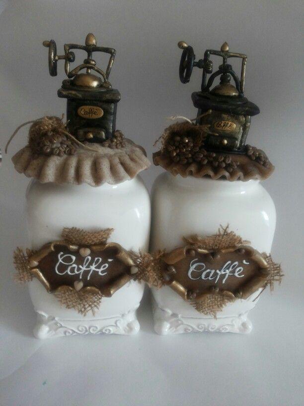 Barattoli per Caffè con macinino in pasta di mais