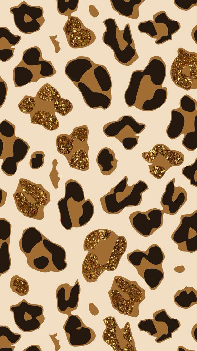 Glittery cheetah print Animal print wallpaper, Cheetah