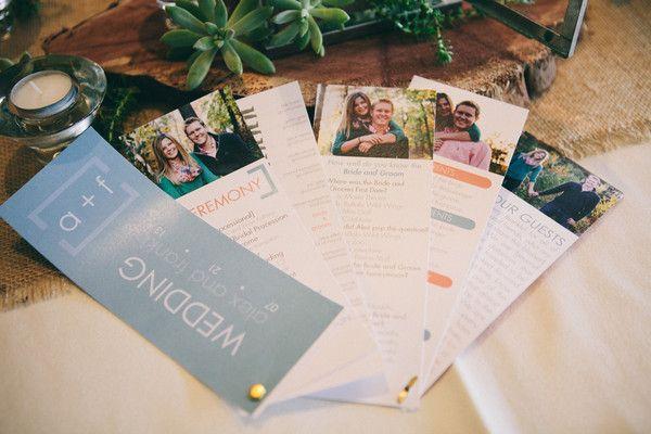 A fun fanned wedding program! | An Outdoor Wedding That's Simply Charming | Kennedy Blue