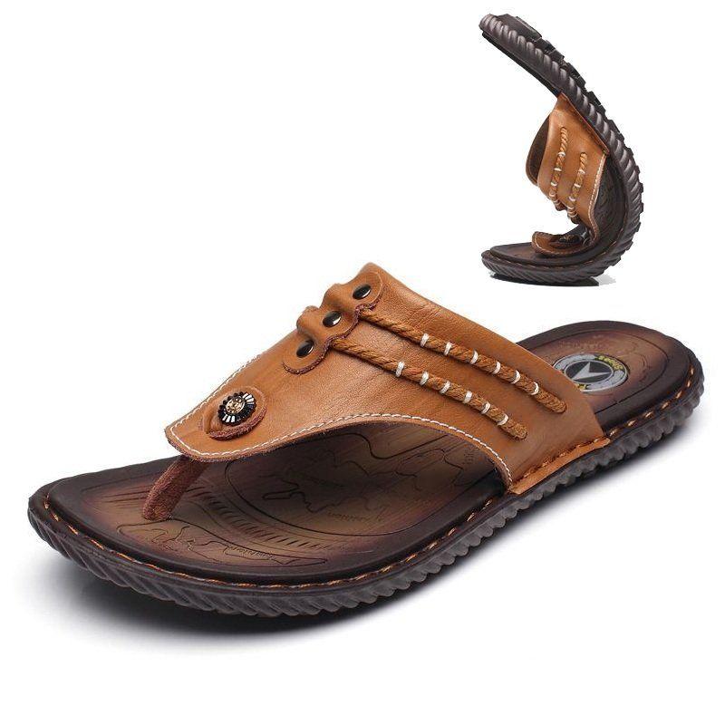 Hommes Clip Pantoufles Confortables Orteils Semelles Souples Sandales De Plage Occasionnels Plat ipGG1