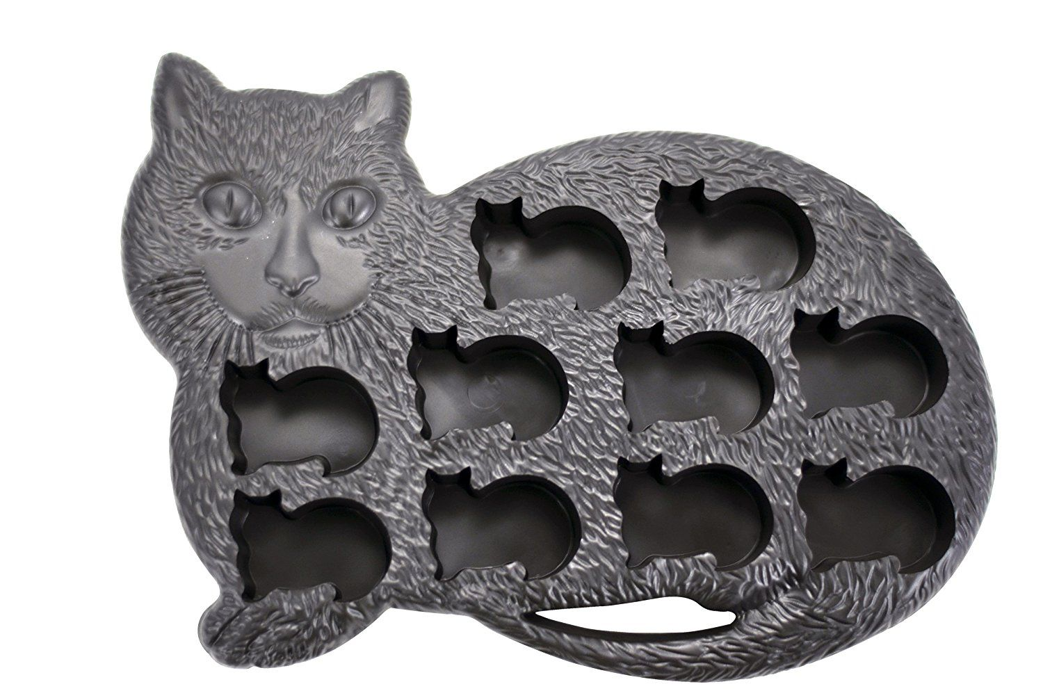 Black Rubber Cat With Baby Kitten Ice Cube Tray Mold Gift Guide For The Cat Lover For The Animal L Cat Ice Cube Tray Ice Cube Tray Molds Cats And Kittens