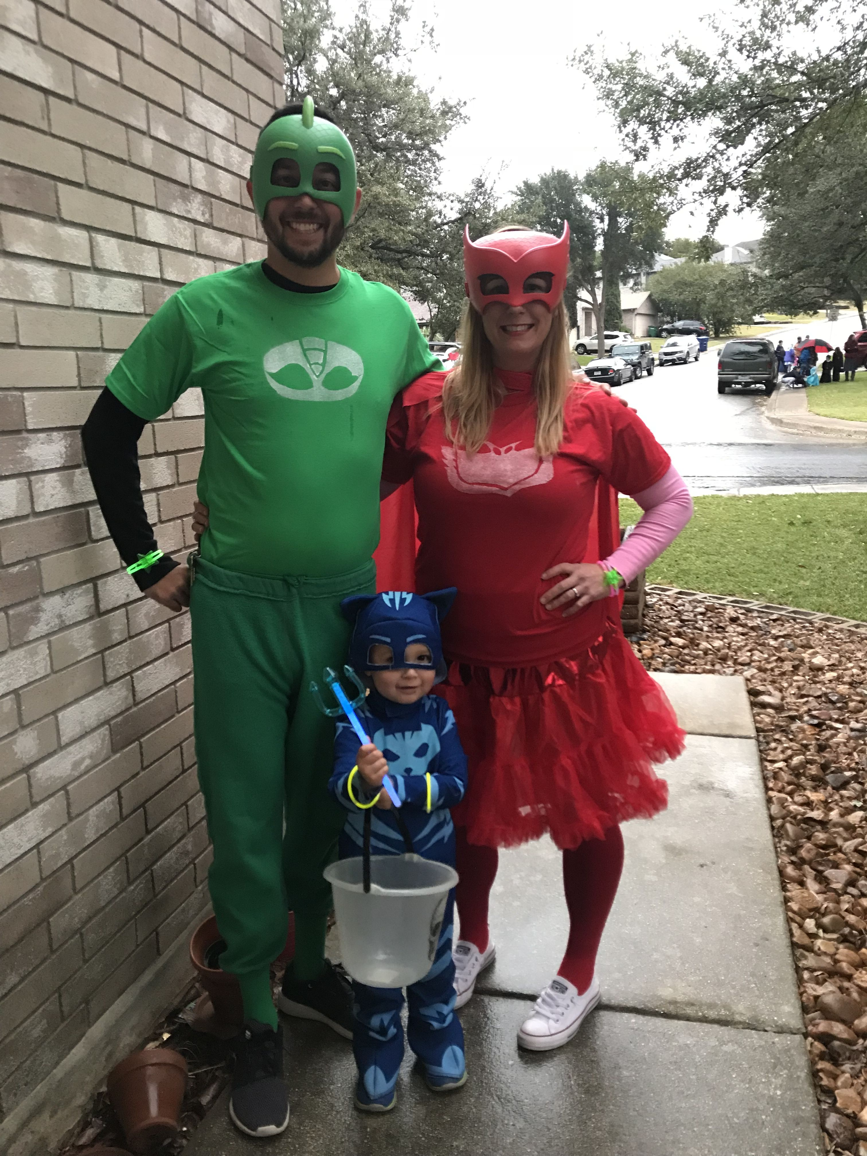 DIY Family PJ Masks Halloween costumes (well, the adult ...