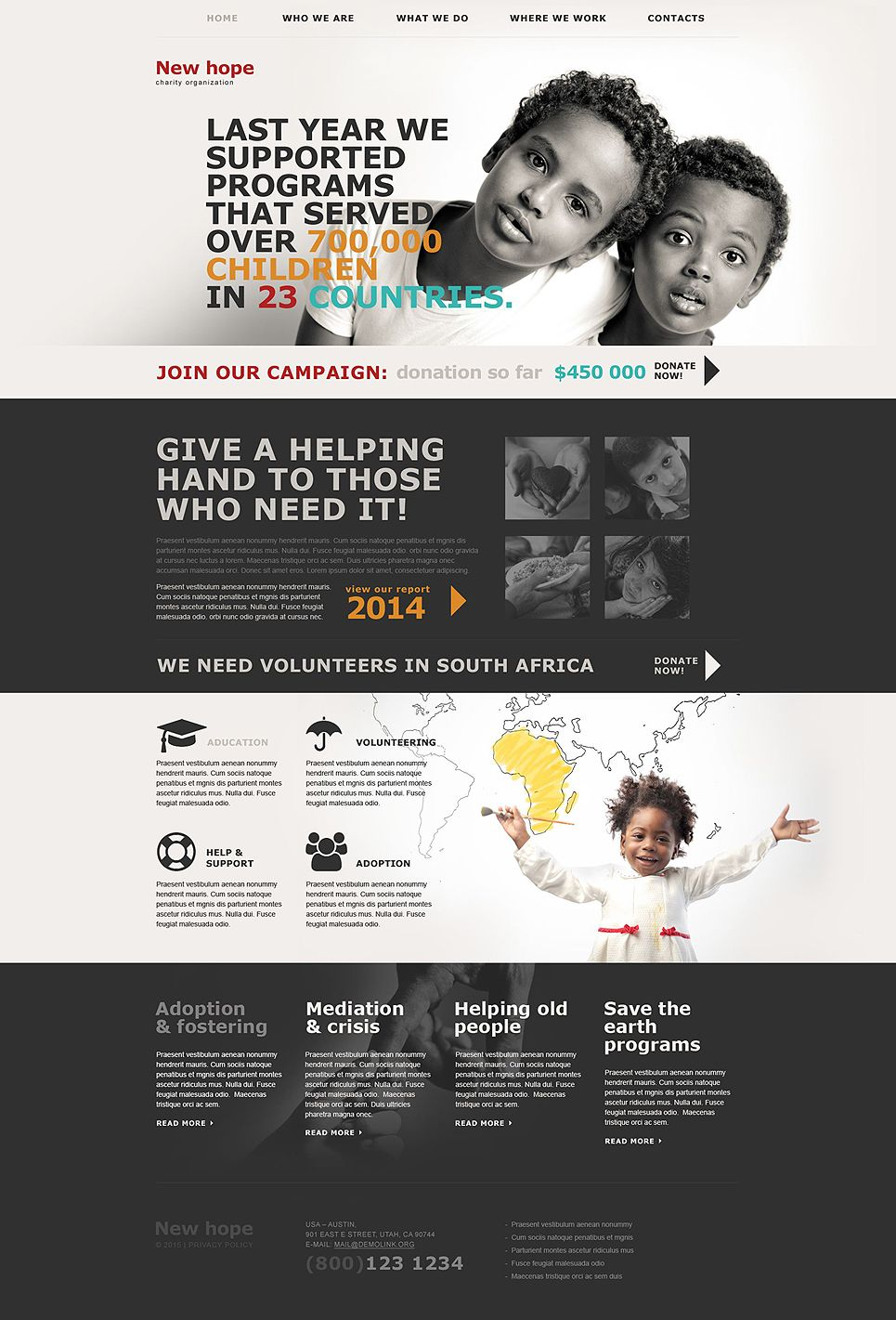 charity muse template typography design pinterest templates