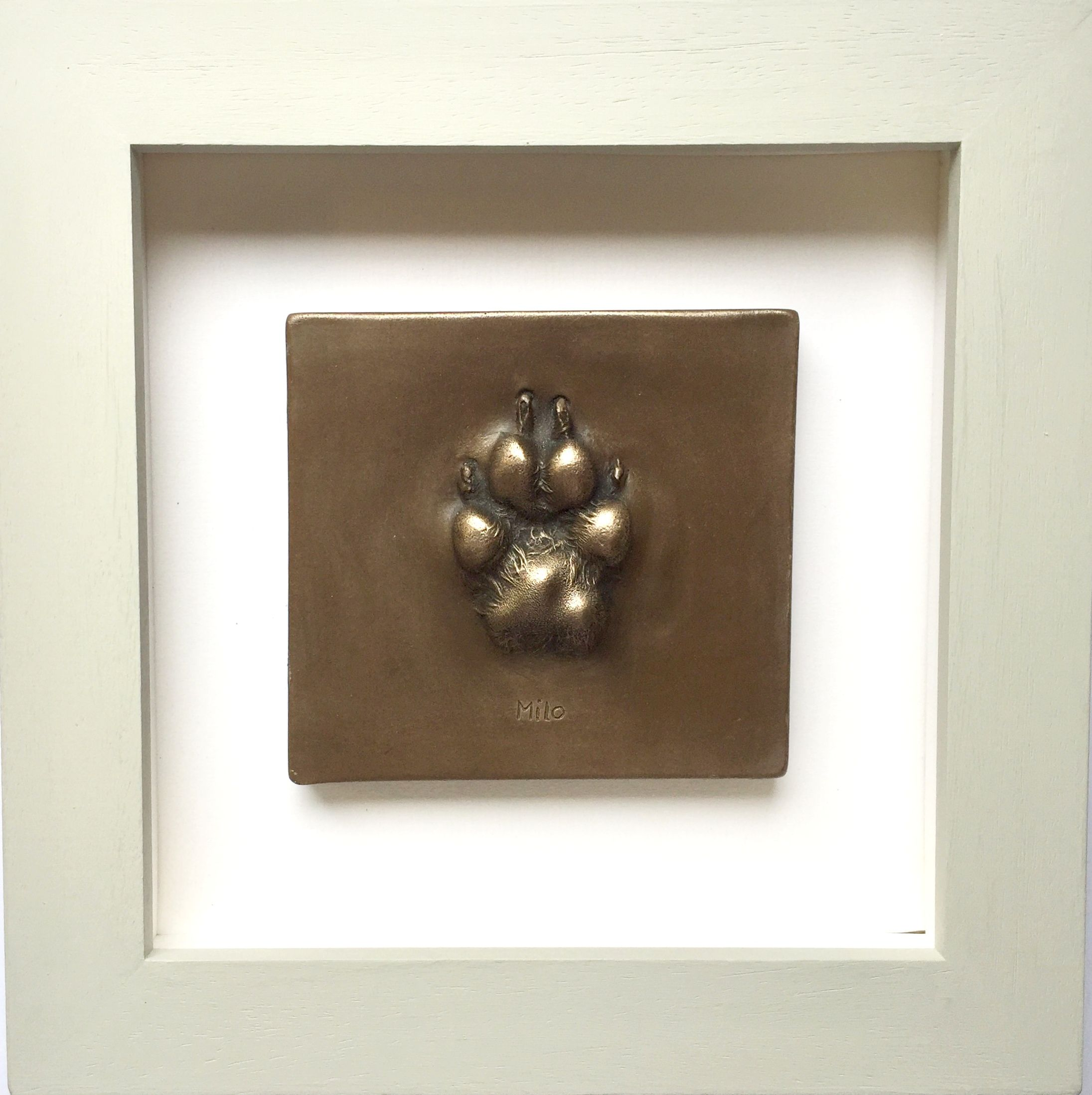 Bronze resin dog paw framed (With images) Dog paw print