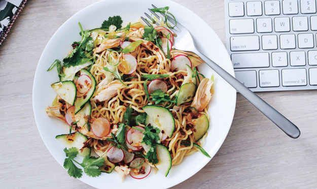 Noodle Salad with Chicken and Chili-Scallion Oil