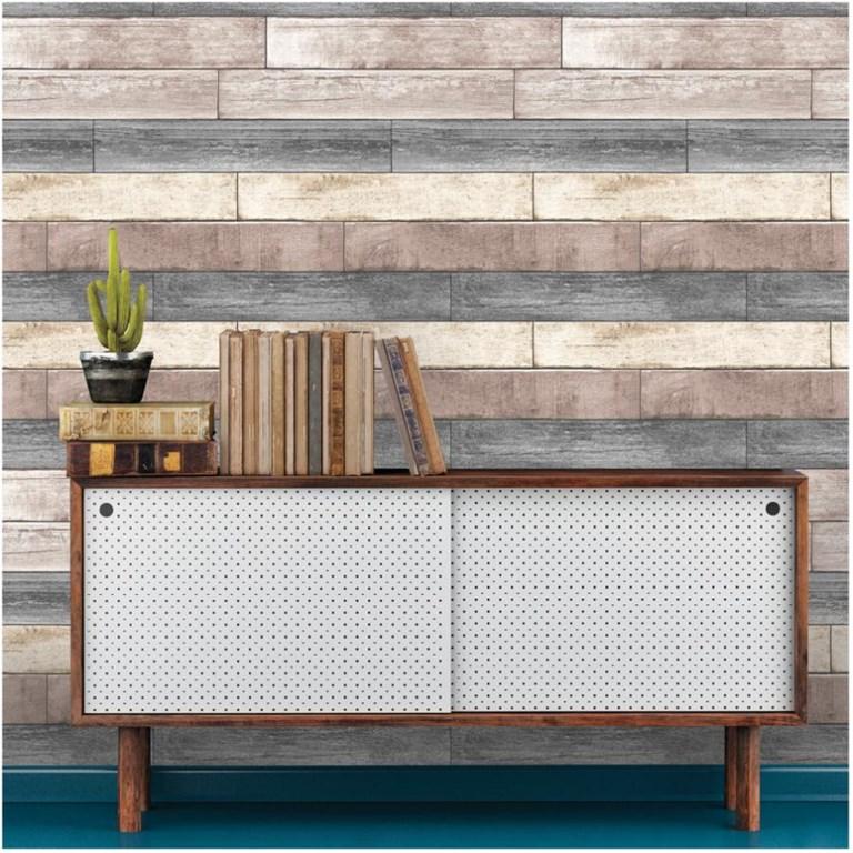 Wallpops Peel Stick Reclaimed Wood Plank Wallpaper Home Hardware Wallpaper Shelf Organization Decor Wood Plank Wallpaper Wood Panel Walls Wood Planks