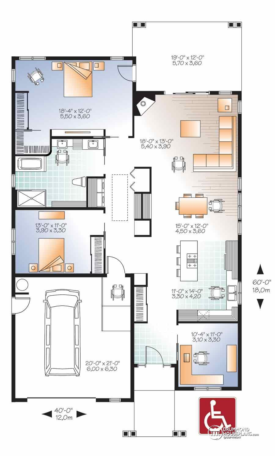 Pin By Latrice Jones On Wheelchair Accessible Accessible House Plans House Plans Accessible House