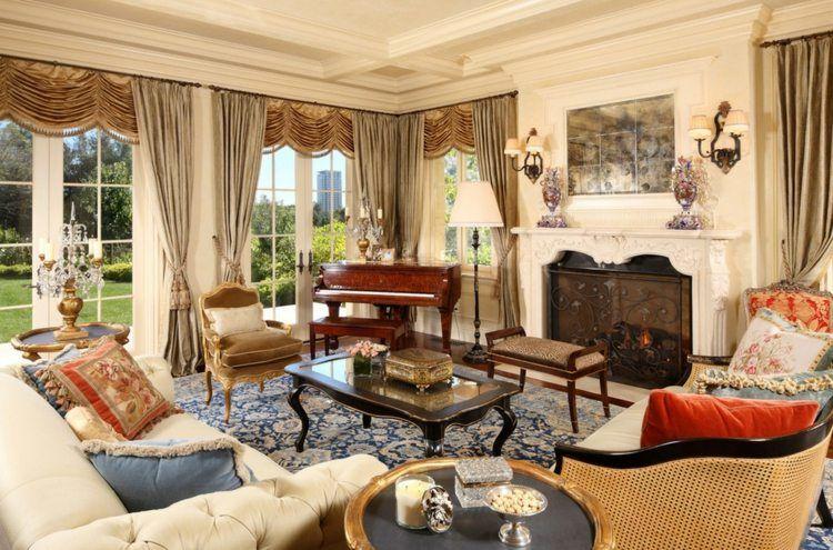 Salon déco style victorien moderne en 48 idées Interiors - decoration de salon moderne