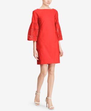 Lauren Ralph Lauren Off-The-Shoulder Dress - Fresh Tomato