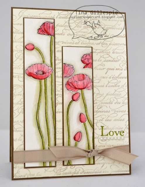 Lovely Stamping Ideas For Card Making Part - 10: By Tina Gillespie, Scissors Paper Card
