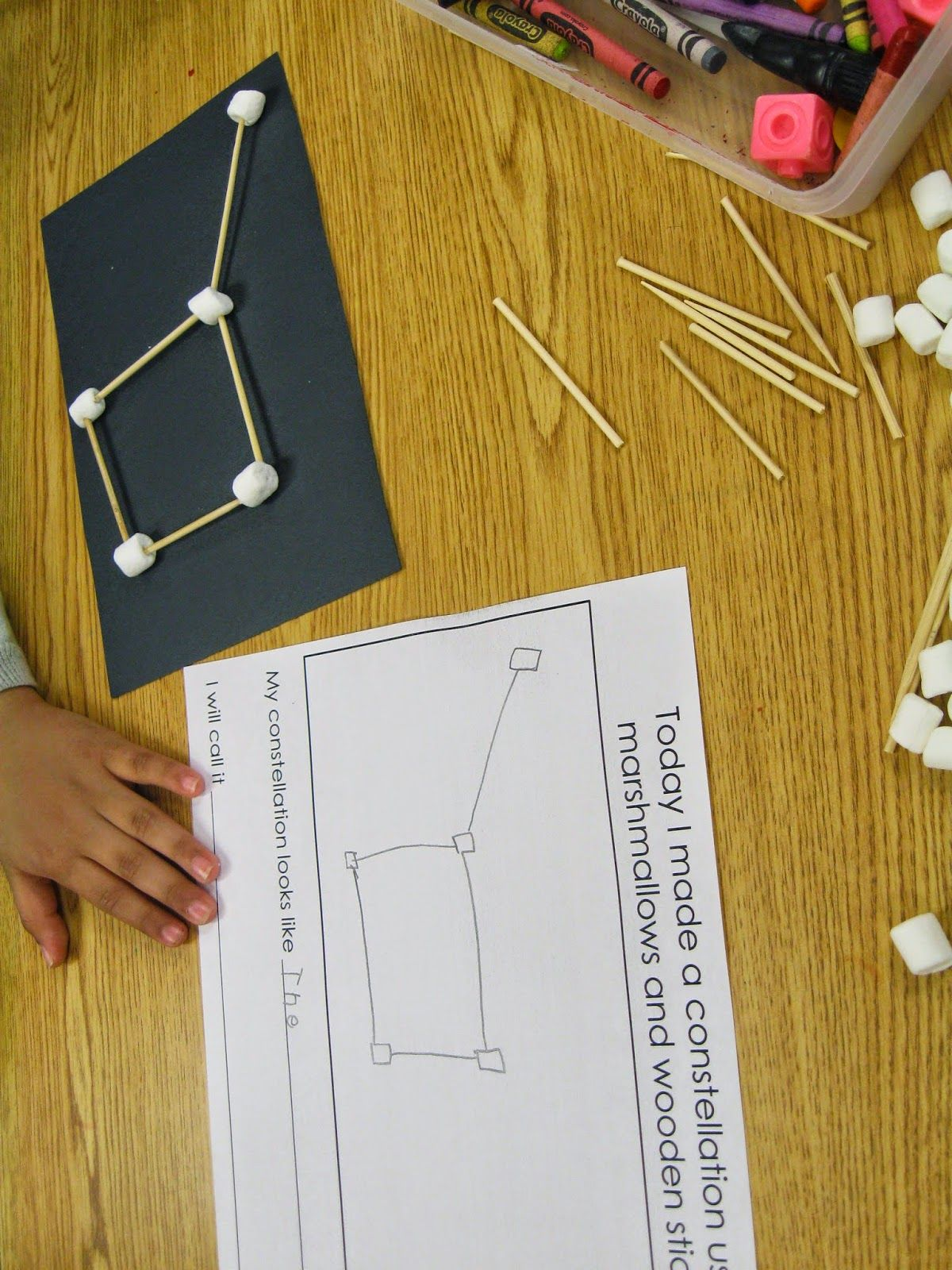 Create Constellations With Marshmallows